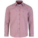 Kam Gingham Long Sleeve Shirt|Red|2XL