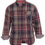 D555 Punto Long Sleeve Button Down Check Shirt With Pocket