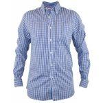 D555 – Tall Super Gingham Check Long Sleeve Button Down Shirt – Blue/Navy