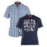 D555 Clifton Short Sleeve Shirt & T-Shirt Combo