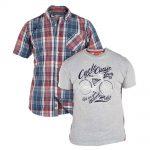 D555 Vincent Checked Shirt & T-Shirt Combo