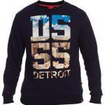 D555 Detroit Crew Neck Sweatshirt With Detroit Image – Navy
