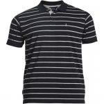 North 56°4 Striped Polo Shirt – Black