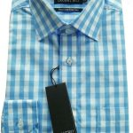 Double Two Bold Blue Check Shirt