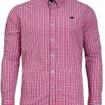 Raging Bull 2 Colour Gingham Shirt in Pink|4XL