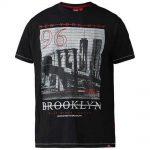 D555 Cain Brooklyn Print Short Sleeve T-Shirt Black