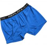 Replika Jeans Printed Boxer Shorts in Orient Blue|5XL