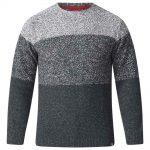D555 Winnie Ombre Crew Neck Sweater in Grey