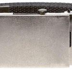 D555 Edward 4.0 cm Plain Webbing Belt – Black|7XL