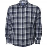 North 56°4 Long sleeve Checked Shirt in Blue|7XL