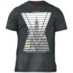 D555 Rox Charcoal New York Print T-Shirt – Grey
