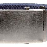 D555 Edward 4.0 cm Plain Webbing Belt – Navy