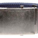 D555 Edward 4.0 cm Plain Webbing Belt – Navy 7XL