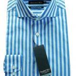 Double Two Bold Blue Stripe Shirt