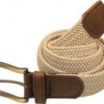 Stylish Casual Elastic Plaited Webbing Belt – Stone