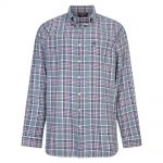 Espionage Yarn Dyed Brushed Shirt in Navy and Grey 5XL