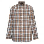 Espionage Twin Pocket Shirt in Taupe and Grey|3XL