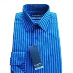 Double Two Bold Navy Blue Pinstripe Shirt