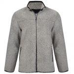 KAM Sherpa Full Zip Fleece Jacket in Charcoal Grey