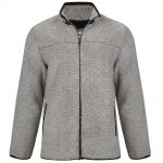 KAM Sherpa Full Zip Fleece Jacket in Charcoal Grey|5XL