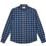 Mish Mash 2308 Casey Long Sleeved Shirt in Blue and Grey Check|6XL