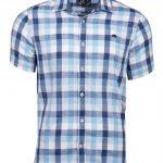 Raging Bull Check Short Sleeve Shirt Mid Blue