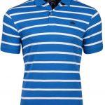 Raging Bull Breton Stripe Short Sleeve Polo Shirt Blue