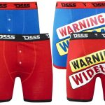 D555 Novetly Wideload Boxer Shorts Two Pack Red Blue