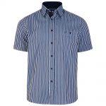 Kam Stripe Short Sleeve Shirt – Dark Blue