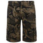 KAM Cargo Olive Camouflage Twill Shorts