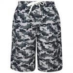 KAM Cargo Camouflage Print Swim Shorts