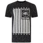 Kam New York Rebel Flag T-Shirt – Black
