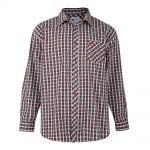 KAM Check Long Sleeve Shirt – Red 3XL