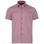 Kam Gingham Short Sleeve Shirt – Red