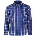 Kam Stylish Cross Check Shirt – Blue