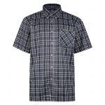 Kam Oxford Check Short Sleeve Shirt – Navy