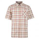 Kam Oxford Check Short Sleeve Shirt – Red