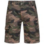Kam Dark Khaki Camouflage Shorts – Brown