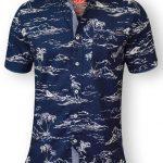 D555 Nestor Hawaiian Shirt – Blue