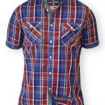 D555 Elias Twin Pocket Check Shirt