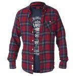 D555 Richard Check Shirt & T-Shirt Combo