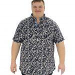 D555 Lahaina Short Sleeve Shirt – Navy