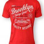 D555 Brooklyn Vintage Goods T-Shirt – Red