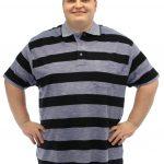 Brooklyn Striped Polo Shirt – Grey/Navy
