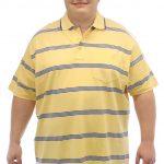 Brooklyn Striped Polo Shirt Yellow/Blue