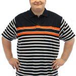 Brooklyn Striped Polo Shirt Navy/White