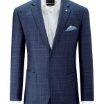 Skopes Padua Check Jacket – Blue 40R Chest