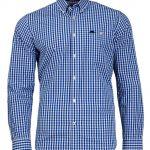 Raging Bull 2 Colour Gingham Shirt in Cobalt Blue|5XL