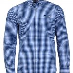 Raging Bull 2 Colour Gingham Shirt in Cobalt Blue|6XL