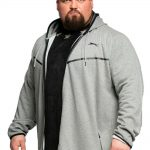 Slazenger Tommy Fleece Hoody in Grey